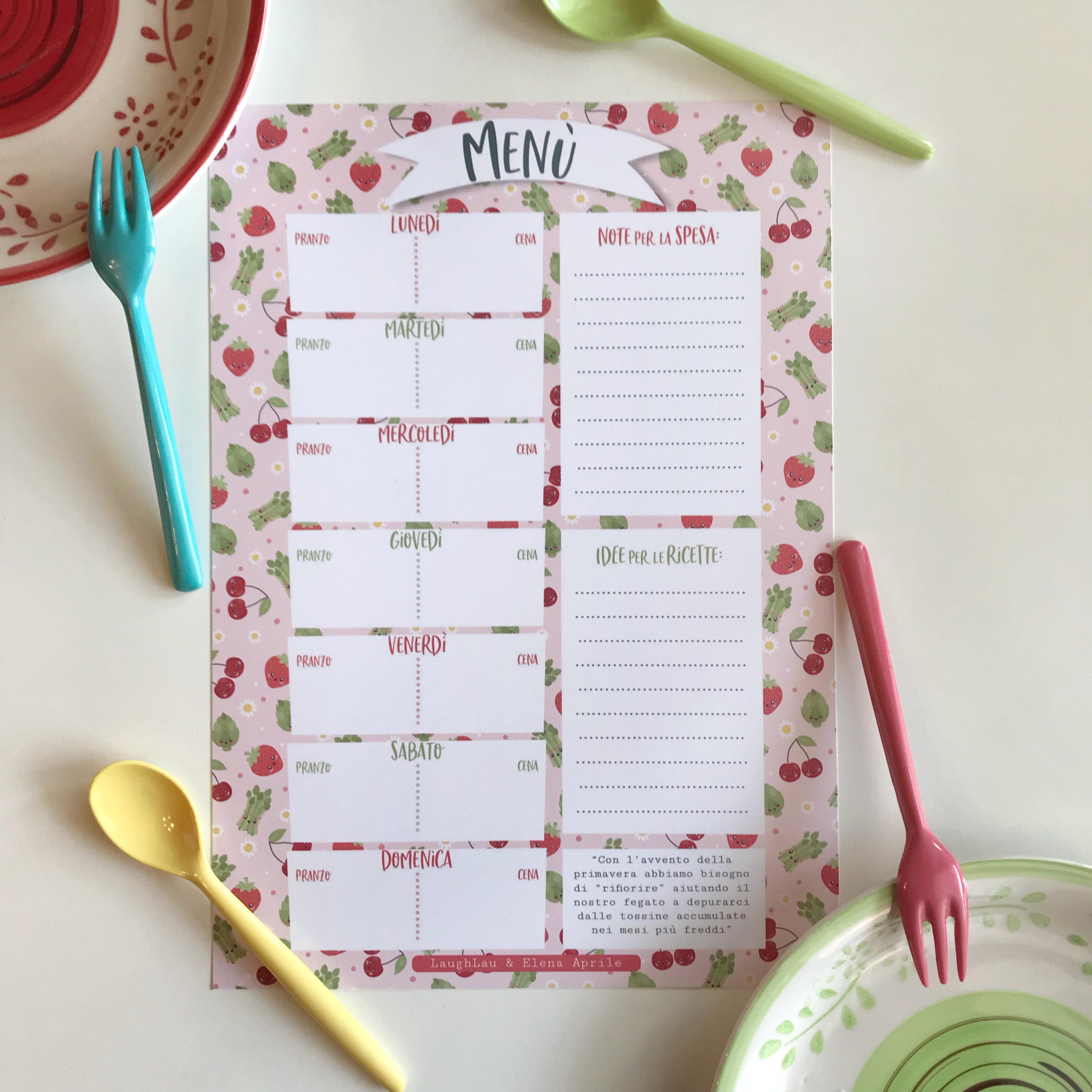 Come Organizzare I Pasti Settimanali dott.ssa elena aprile dietista | planning - un planning